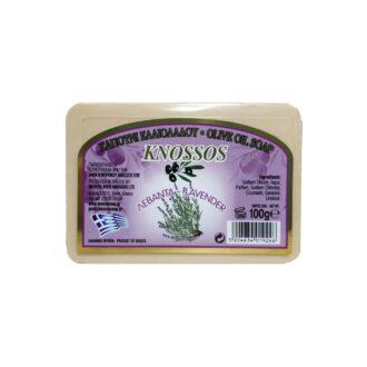 knossos řecké tělové mýdlo olivové levandulové