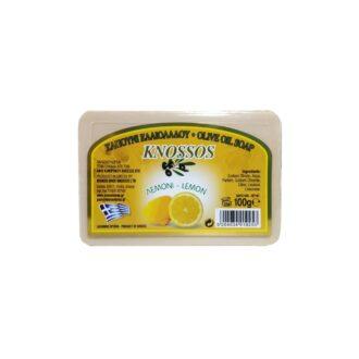 knossos řecké olivové tělové mýdlo citron